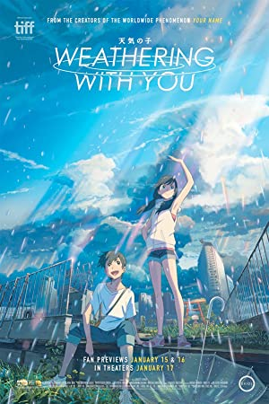 movie poster of Weathering with You