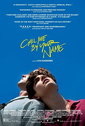 movie poster of Call Me by Your Name
