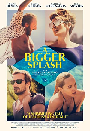 movie poster of A Bigger Splash streaming (where to watch online)