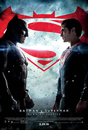 movie poster of Batman v Superman: Dawn of Justice