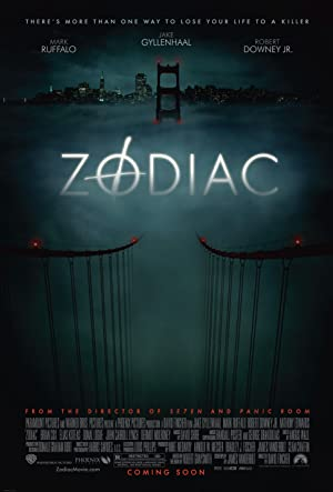 movie poster of Zodiac streaming (where to watch online?)