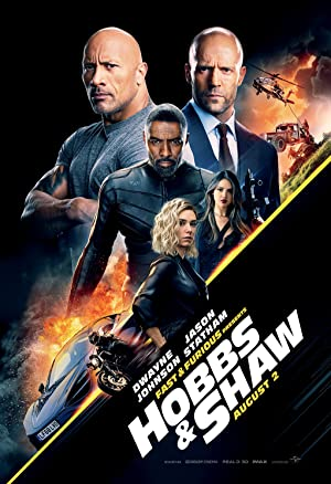 movie poster of Hobbs & Shaw