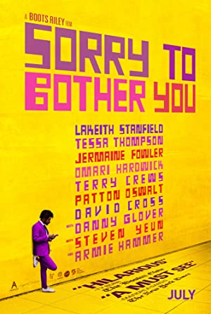 movie poster of Sorry to Bother You