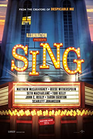 movie poster of Sing