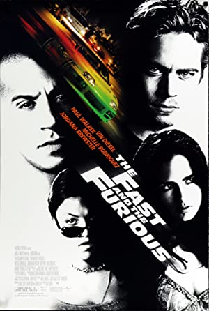 movie poster of The Fast and the Furious (A todo gas)