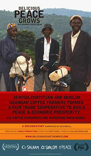 movie poster of Delicious Peace Grows in a Ugandan Coffee Bean