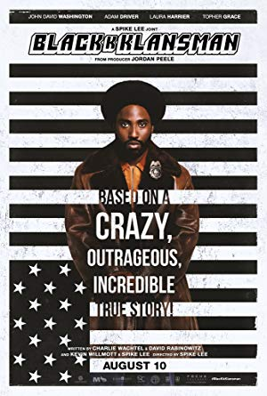 movie poster of BlacKkKlansman