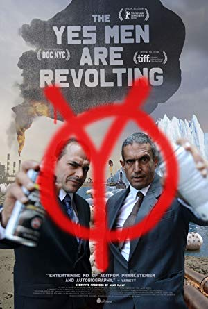 movie poster of The Yes Men Are Revolting