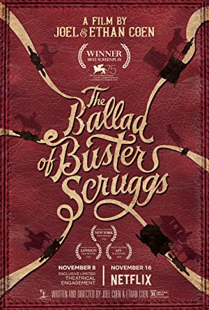 movie poster of The Ballad of Buster Scruggs streaming (where to watch online?)