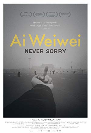 movie poster of Ai Weiwei: Never Sorry
