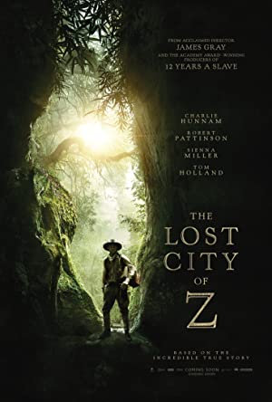 movie poster of The Lost City of Z streaming (where to watch online?)