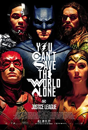movie poster of Justice League