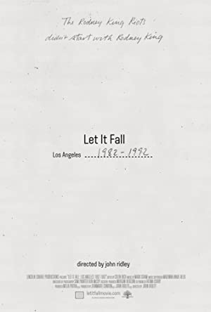 movie poster of Let It Fall: Los Angeles 1982-1992