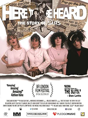 movie poster of Here to Be Heard: The Story of the Slits