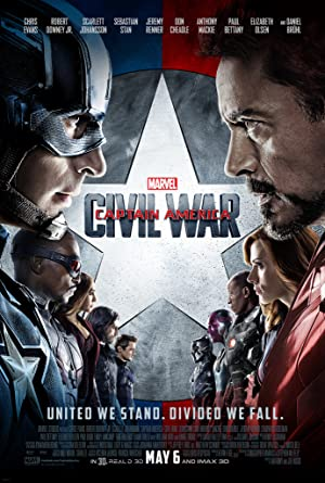 movie poster of Capitão America: Guerra Civil (Captain America: Civil War)