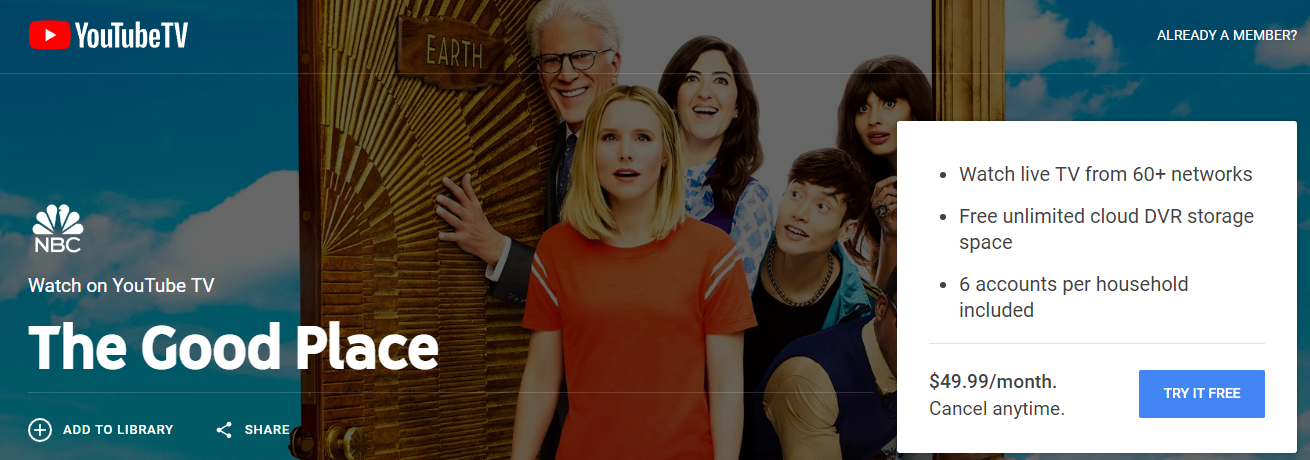 FireShot Capture 178 - Watch The Good Place online - YouTube TV (Free Trial) - tv.youtube.com